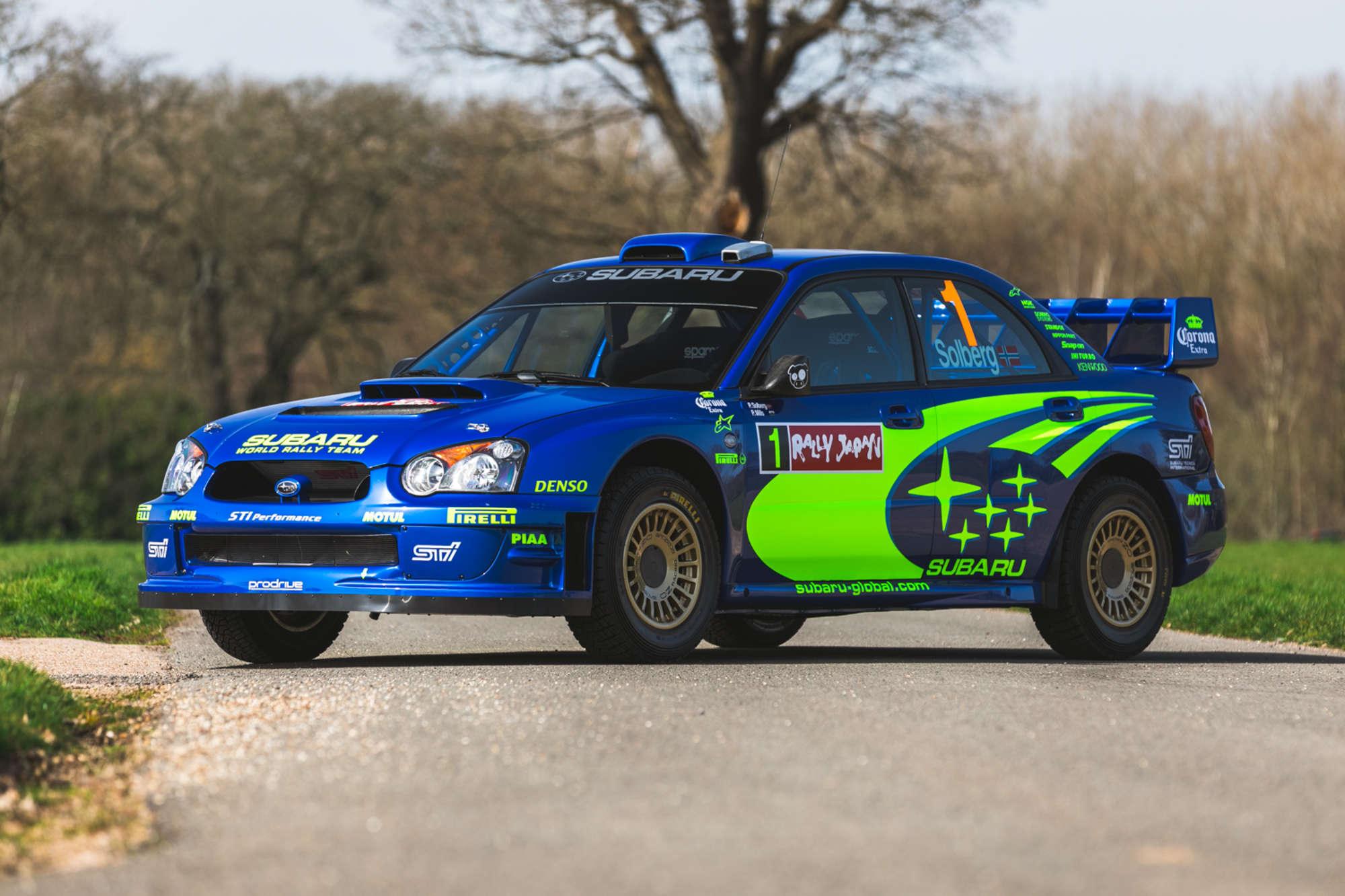 For Sale: Petter Solberg's 2004 Subaru S10 WRC rally car