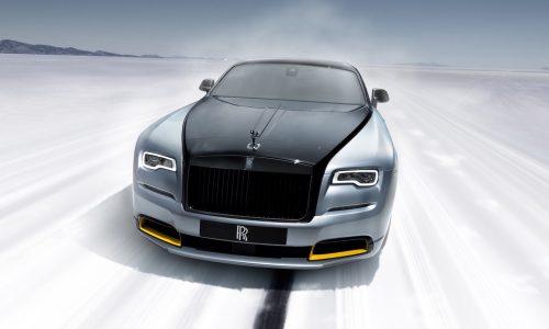 Rolls-Royce debuts Wraith & Dawn landspeed record editions
