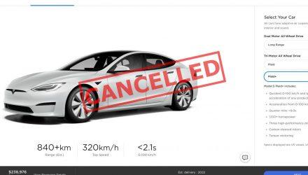 Elon Musk confirms Tesla Model S Plaid+ has been cancelled