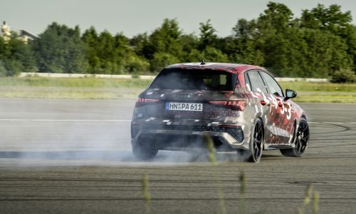 2022 Audi RS 3 gets clever new rear axle, enables drift