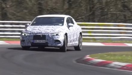 Mercedes-Benz EQE spotted at Nurburgring, looks quick (video)
