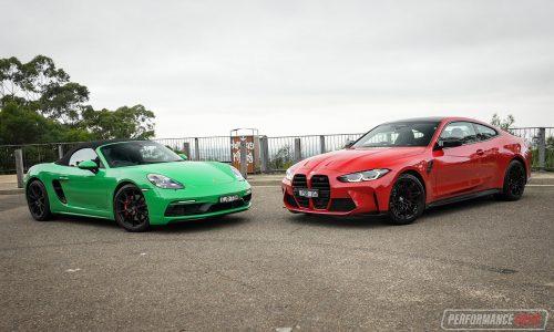 2021 BMW M4 Competition vs Porsche 718 Boxster GTS: Comparison (video)