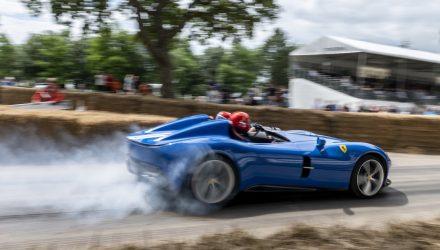 Ferrari exhibits 6290 'Prancing Horses' at 2021 Goodwood Festival