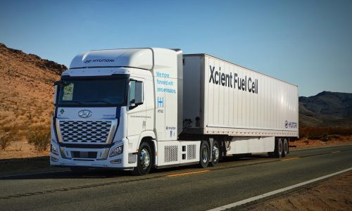 Hyundai's XCIENT world-first hydrogen truck hitting roads in California