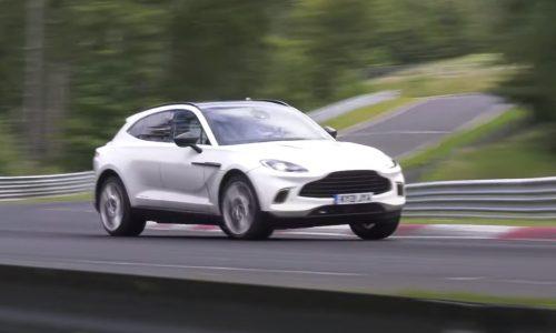 Aston Martin DBX mild-hybrid prototype spotted, 3.0 inline-6 AMG? (video)