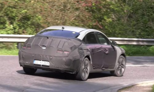 2022 Hyundai IONIQ 6 spotted on twisty road, looks fast & grippy (video)
