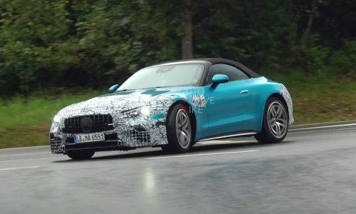 2022 Mercedes-AMG SL spotted at Nurburgring, looks very sleek (video)