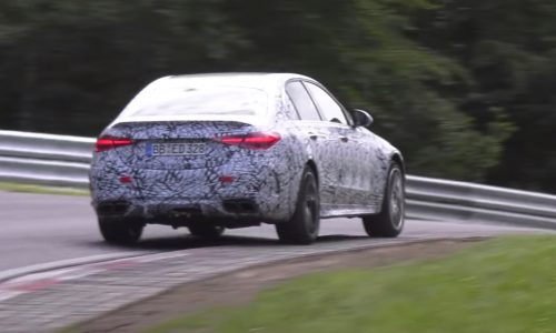 2022 Mercedes-AMG C63 2.0T hybrid spotted, looks extremely quick (video)