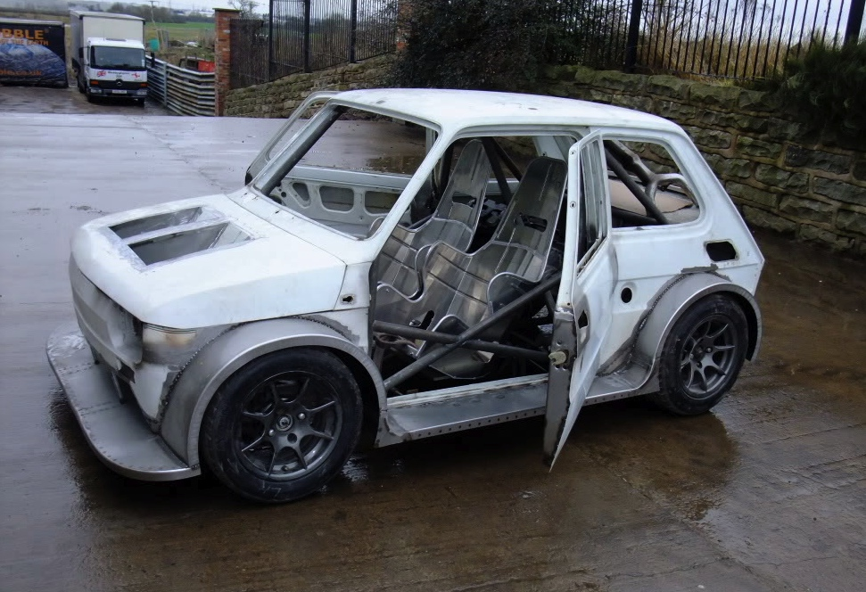 Fiat 126 With Supercharged 1100cc Honda Blackbird Engine