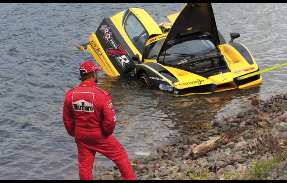 Ferrari Enzo Crash Video 7