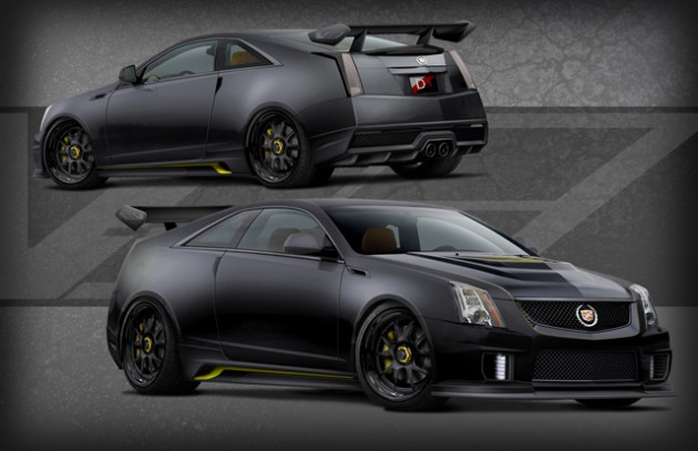 2012 cadillac cts v coupe le monstre with 1001hp set for sema performancedrive. Black Bedroom Furniture Sets. Home Design Ideas