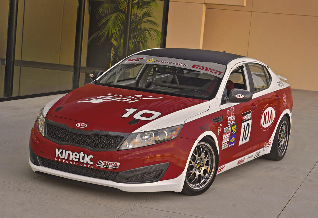 kia optima sx world challenge race cars at la show performancedrive. Black Bedroom Furniture Sets. Home Design Ideas