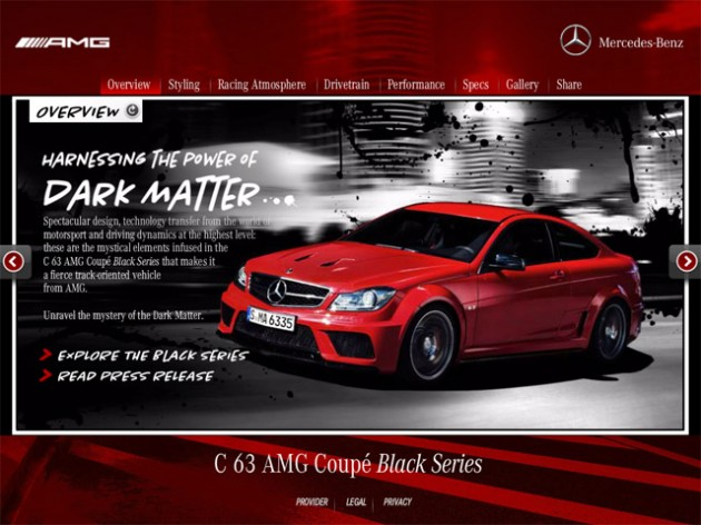 Mercedes benz c 63 amg coupe black series apple app for Mercedes benz apps