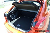 2012 Mitsubishi Lancer VRX Sportback boot space