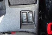 2012 Mitsubishi Lancer VRX Sportback seat warmer buttons