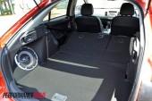 2012 Mitsubishi Lancer VRX Sportback split rear seat