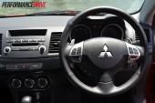 2012 Mitsubishi Lancer VRX Sportback steering wheel