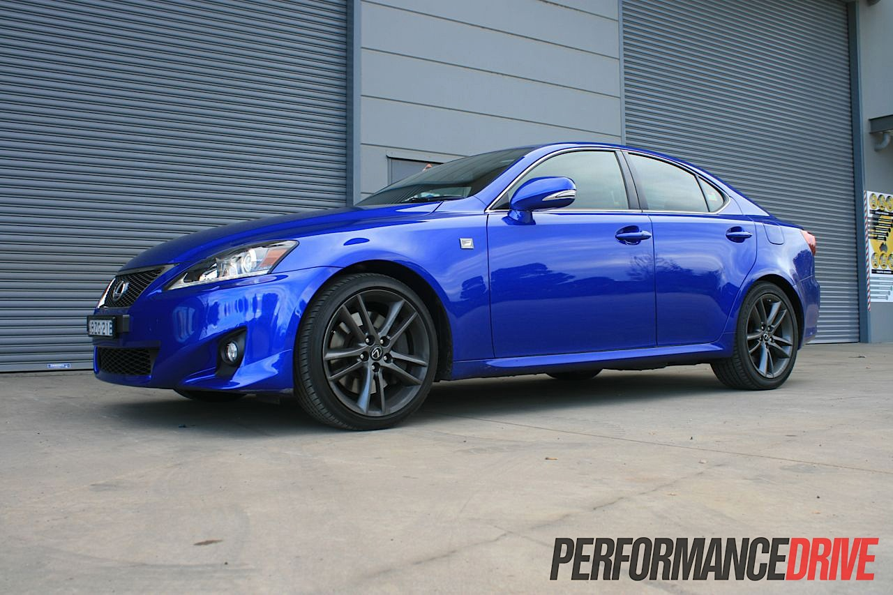 2012 lexus is 350 f sport side front. Black Bedroom Furniture Sets. Home Design Ideas