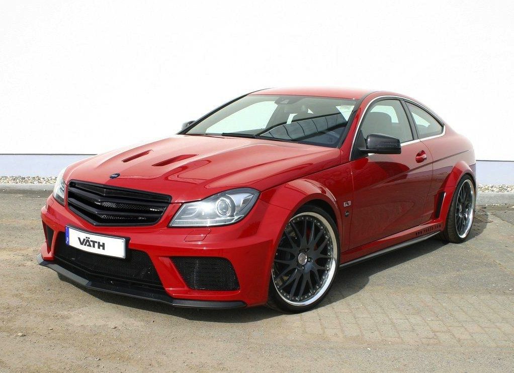 Vath mercedes benz c 63 amg coupe black series with 556kw for C series mercedes benz