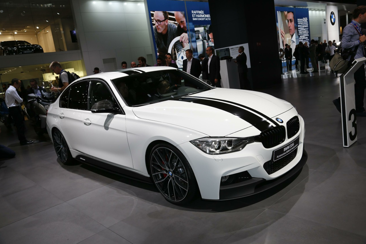 bmw 335i with m performance accessories at paris show. Black Bedroom Furniture Sets. Home Design Ideas