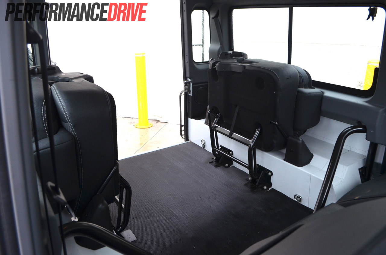 2012 Land Rover Defender 90 Folding Rear Seats