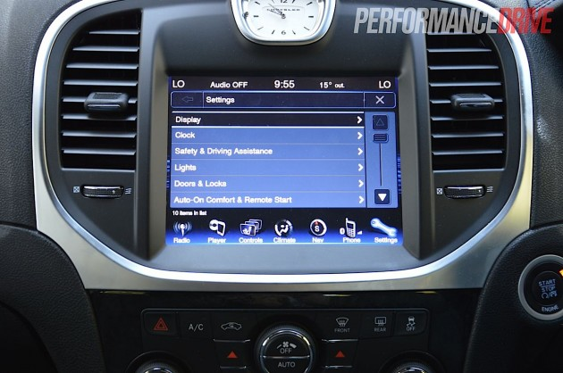 2012 chrysler 300c crd touch screen interface. Black Bedroom Furniture Sets. Home Design Ideas