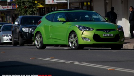 2012 Hyundai Veloster Plus – in the city