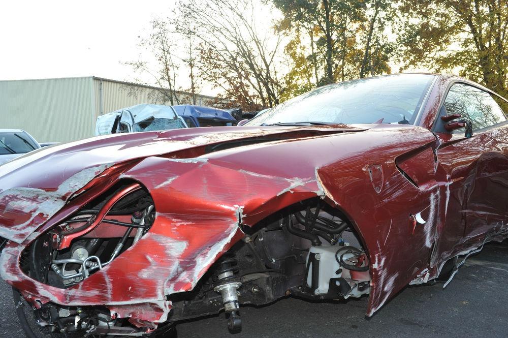 Cristiano Ronaldo Ferrari 599 Crash