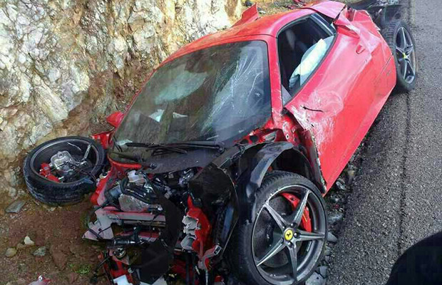 Ferrari 458 Spider Crash Just Two Hours After Purchase