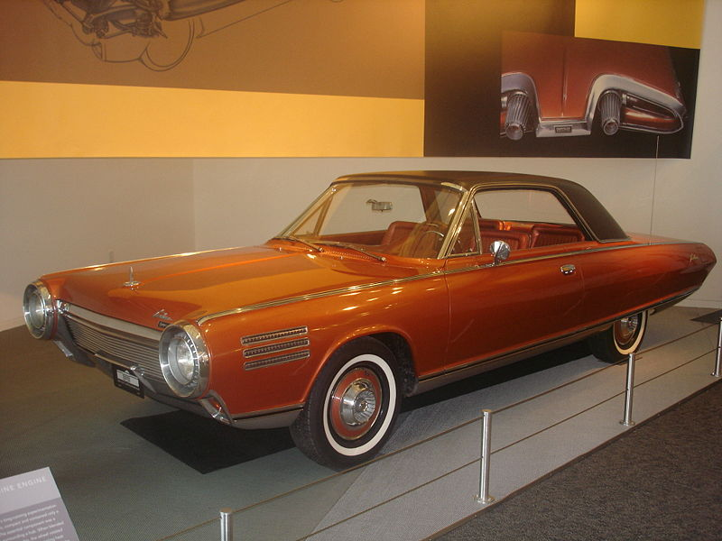 Chrysler Turbine Car: 1963 Chrysler Turbine Car Concept