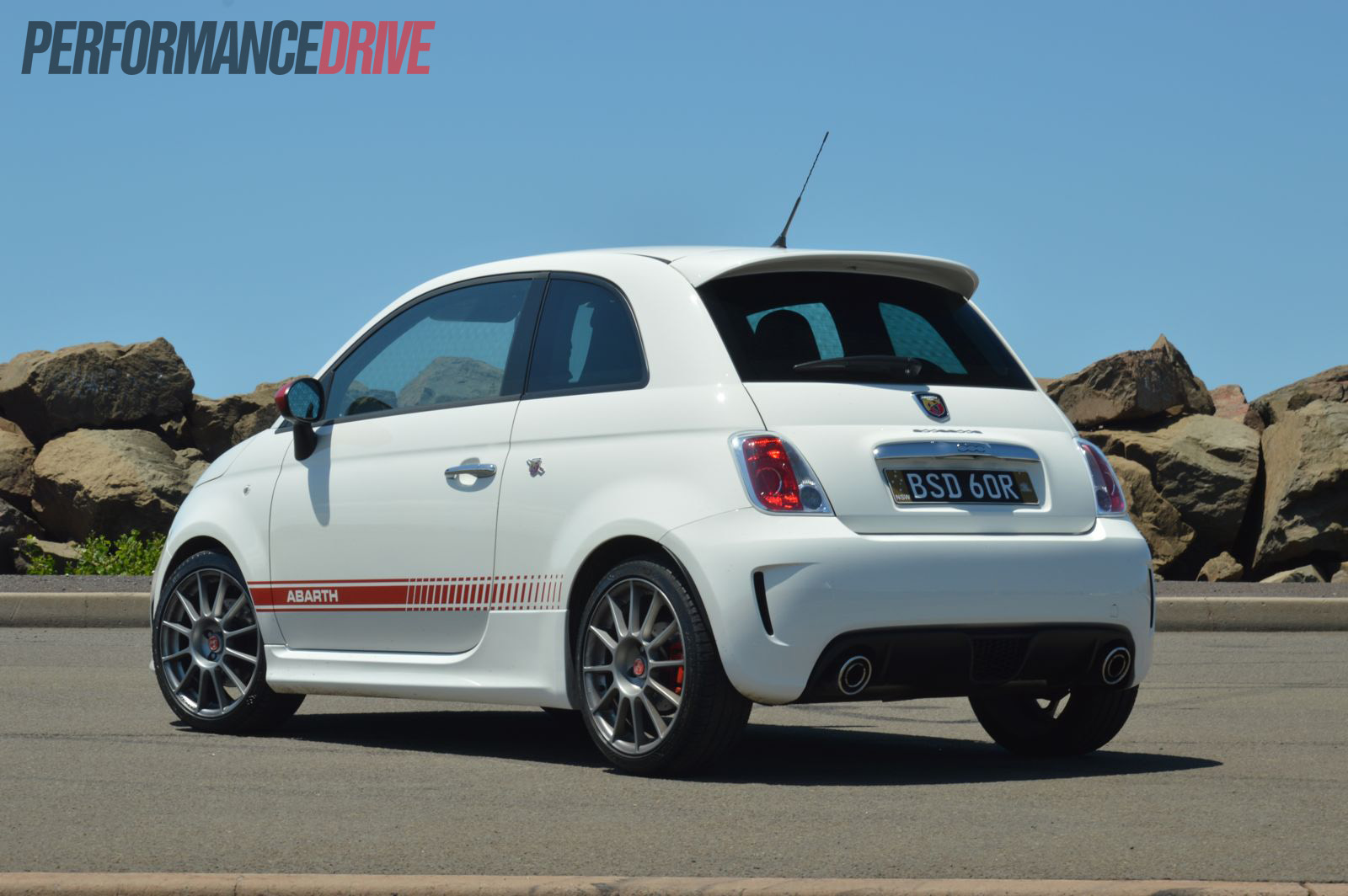 2013 Fiat 500 Abarth Esseesse Rear