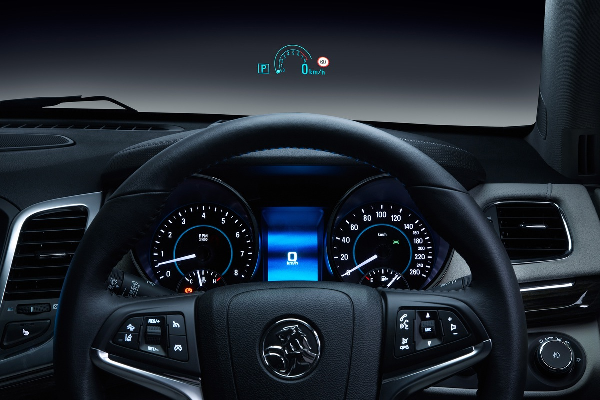 2014 Holden VF Commodore Calais V head-up display