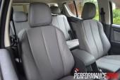 2013 Holden Colorado 7 LTZ front seats