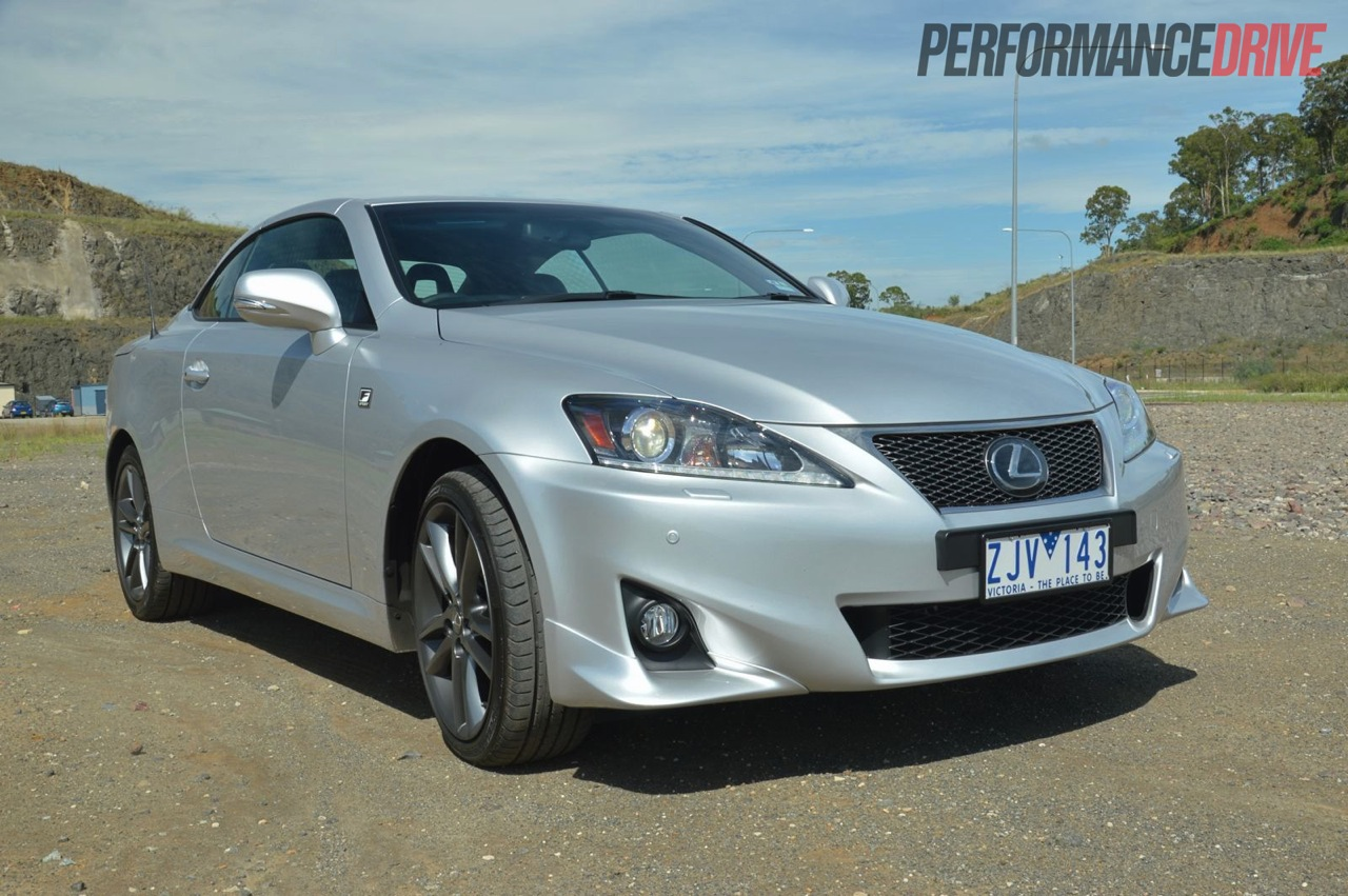 2013 lexus is 250 c f sport premium silver roof up. Black Bedroom Furniture Sets. Home Design Ideas