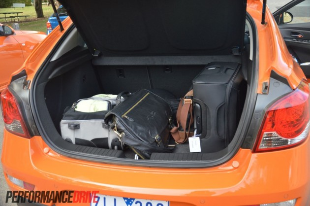 2014 Holden Cruze Sri V Hatch Boot Space