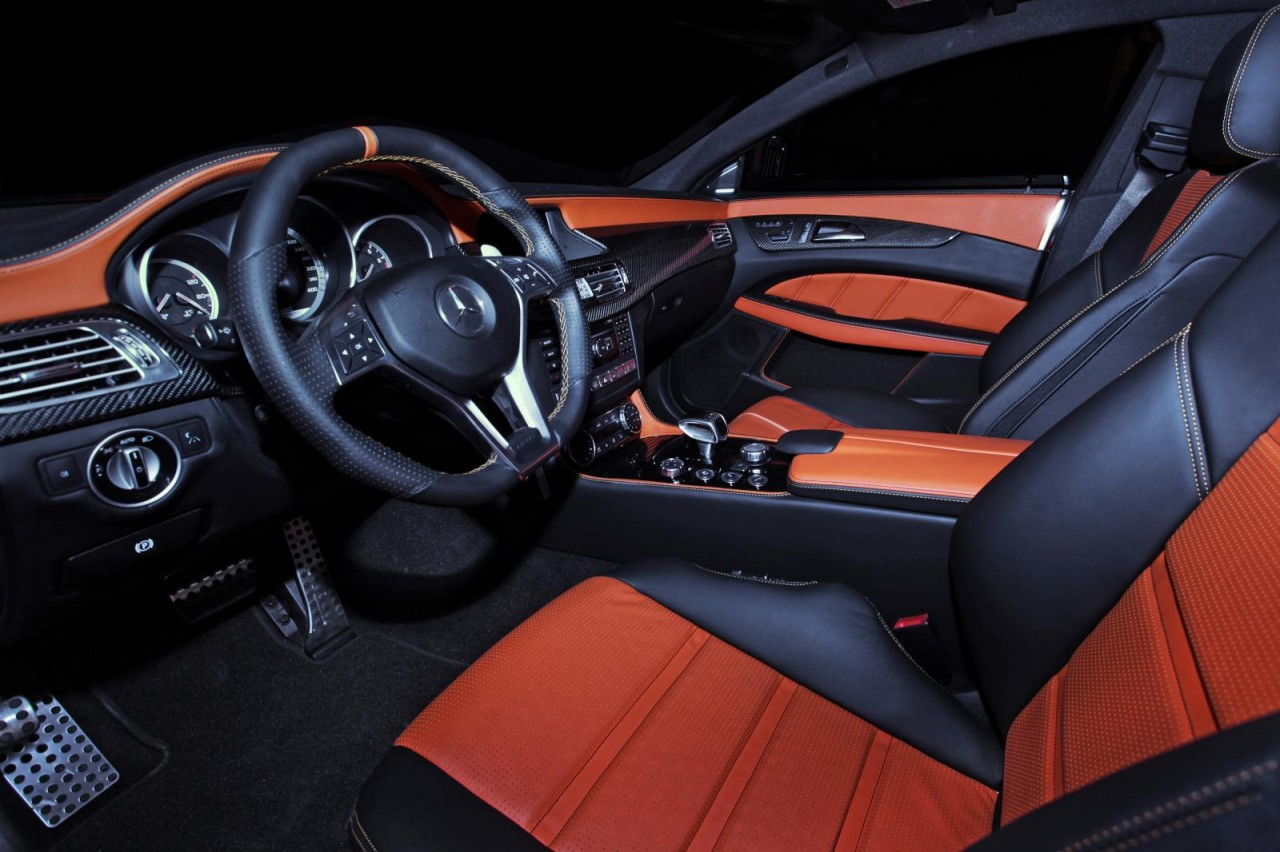 Gsc mercedes benz cls 63 amg looks insane performancedrive for Mercedes benz upholstery kits
