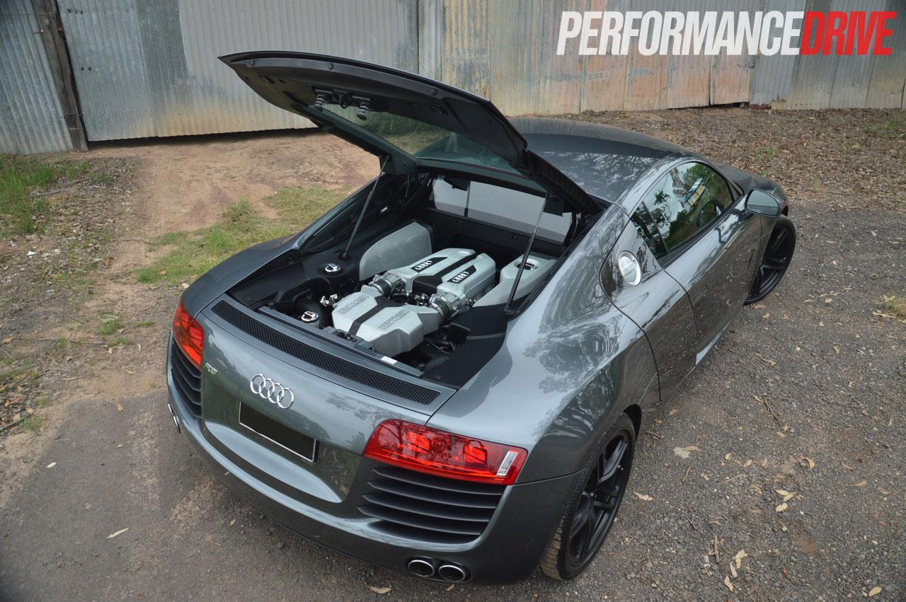 Heffner Audi R8 twin turbo open engine