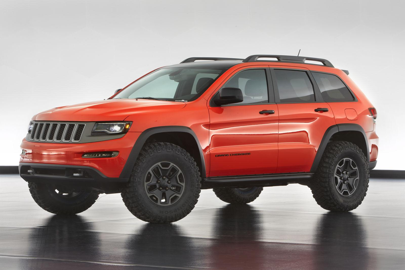 jeep grand cherokee trailhawk ii concept front. Black Bedroom Furniture Sets. Home Design Ideas