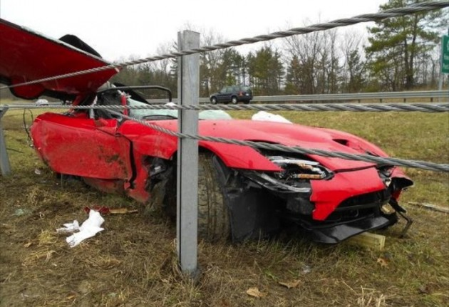 2013 SRT Viper crash
