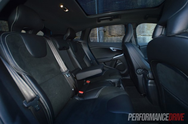 2013 Volvo V40 T5 rear seats