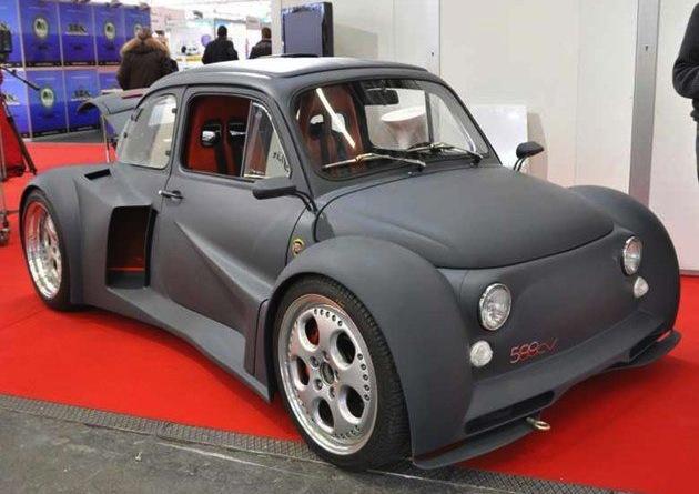 Fiat 500 with a Lamborghini V12 engine (video) - PerformanceDrive
