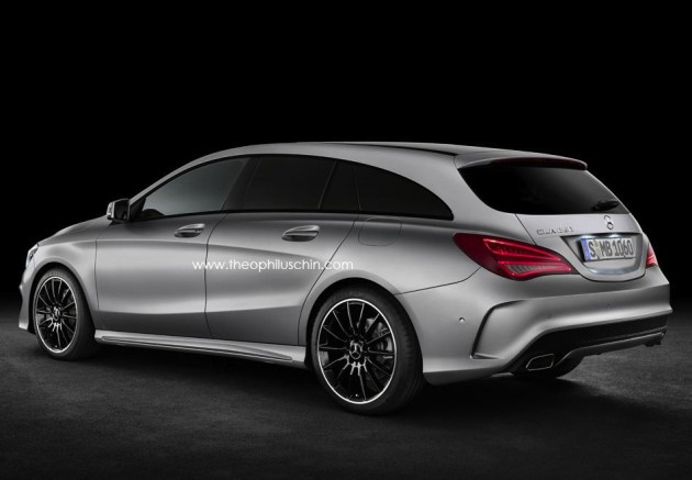 Mercedes-Benz CLA Shooting Brake render