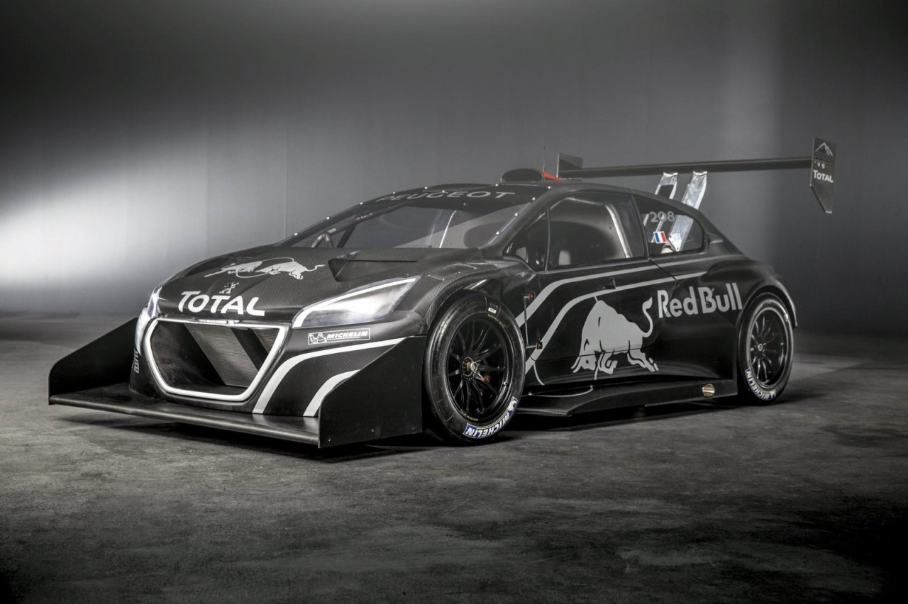 epic peugeot 208 t16 pikes peak rally car unveiled performancedrive. Black Bedroom Furniture Sets. Home Design Ideas