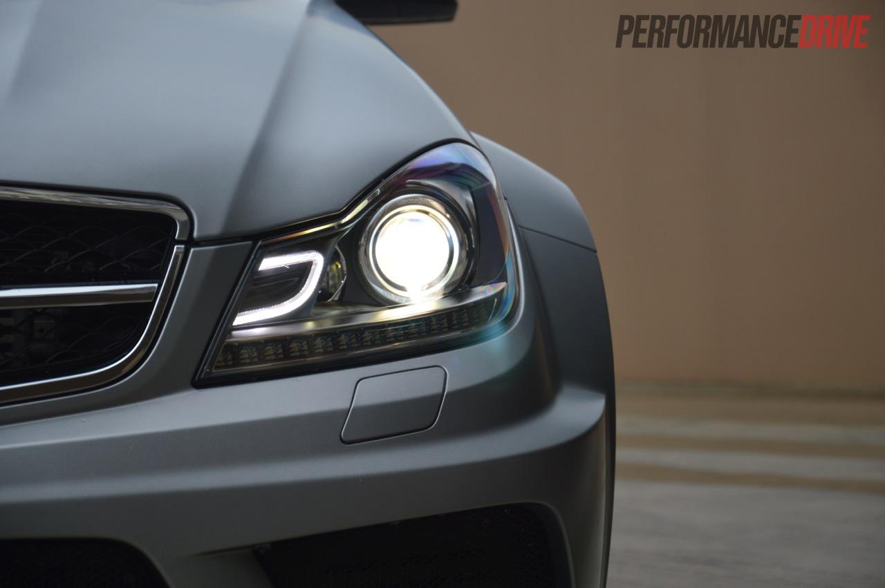 Mercedes benz c 63 amg black series with kleemann for Mercedes benz headlights