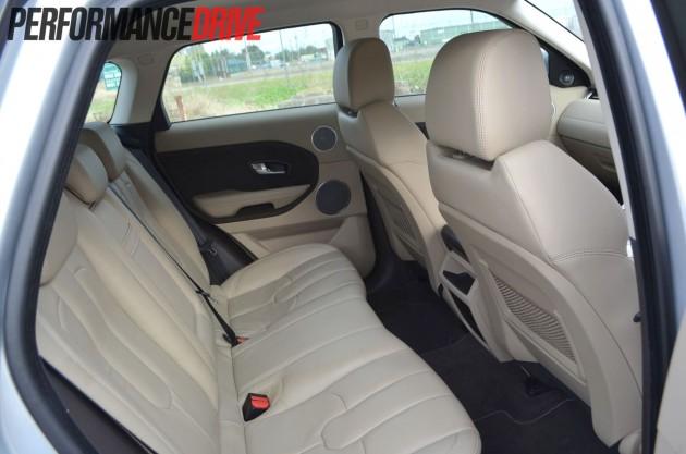 2012 Range Rover Evoque Pure SD4 rear leg room