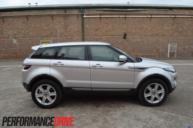 2012 Range Rover Evoque Pure SD4 side profile