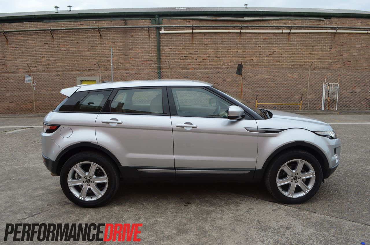 2012 range rover evoque pure sd4 side profile. Black Bedroom Furniture Sets. Home Design Ideas