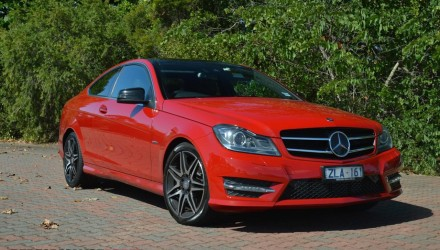 2013 Mercedes-Benz C 250 Coupe Sport Fire Opal red