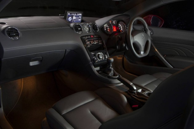 2013 Peugeot RCZ interior with sat-nav