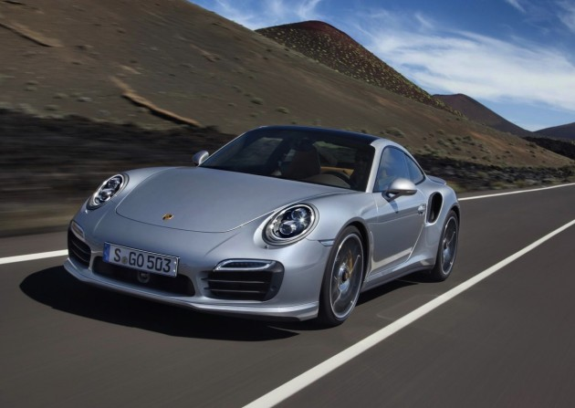 2014 991 Porsche 911 Turbo S driving